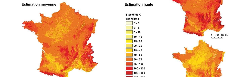 La carte nationale des stocks de carbone des sols intégrée dans la carte mondiale de la FAO.